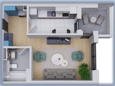 Proiect Nou! studio premium cu balcon si finisaje lux