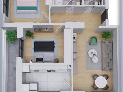 Proiect Nou! apartament 3 camere premium cu balcon de 20 mp